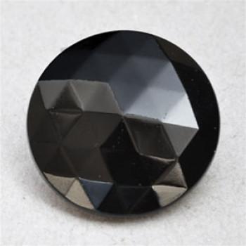 G-5395 Jet Glass Button, 5 Sizes