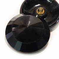 G-5398 Jet Glass Button, 9/16""
