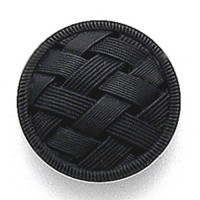 G-5866 Matte Black Glass Button