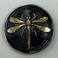 G-9195 Glass Dragonfly Button