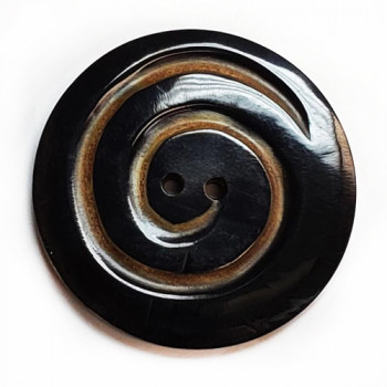 GHW-7003 Carved Genuine  Horn Button