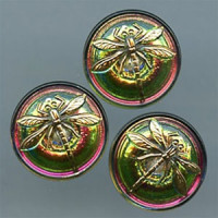 GL-1312 Glass Dragonfly Button