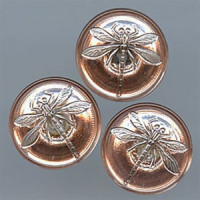 GL-1320 Glass Dragonfly Button