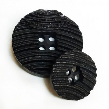 H-1291-Weathered Look Black Button, 2 Sizes  Priced by the Dozen
