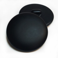 H-5128 - Large Matte Black Shank Button, 1-3/8""