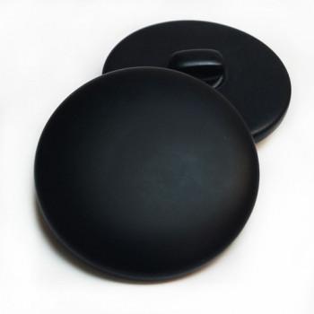 "H-5128 - Large Matte Black Shank Button, 1-3/8"""