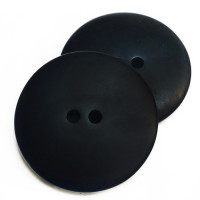 H-5129 - Large Matte Black 2-Hole Button, 1-3/8""