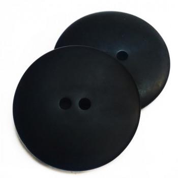 """H-5129 - Large Matte Black 2-Hole Button, 1-3/8"""""""