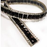 HIR-7013  3/8 Rhinestone Chain Trim Hot Fix