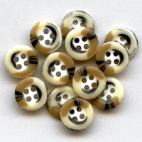 HN-102 Tricolor Shirt Button - 3 Sizes, Priced by the Dozen