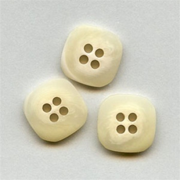 HN-4060 Square Faux Horn Button