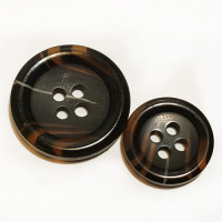 HNY-131  Brown Suit Button - 2 Sizes