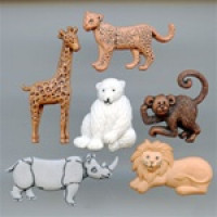 JJ-3600 Zoo Animal Buttons