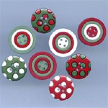 jj 3697 colors of christmas buttons - Christmas Buttons