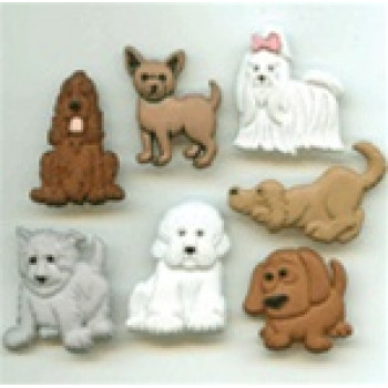 JJ-4674 Puppy Parade Buttons