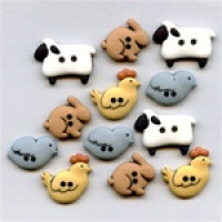 JJ-4678 Farm Animal Buttons