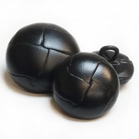 L-1200 Black Leather Button - in 4 Sizes