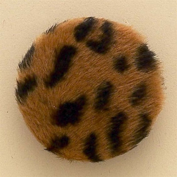 LEP-8022-Caramel and Black Leopard Button