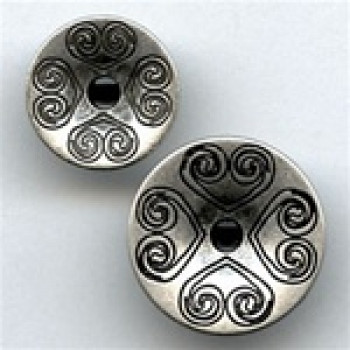 M-051-Metal Fashion Button, 2 Sizes