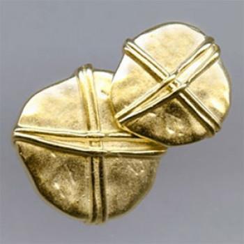 M-053-Gold Metal Fashion Button, 2 Sizes