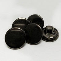 "M-057- 1/2"" Gunmetal Shirt Button, Priced by the Dozen"