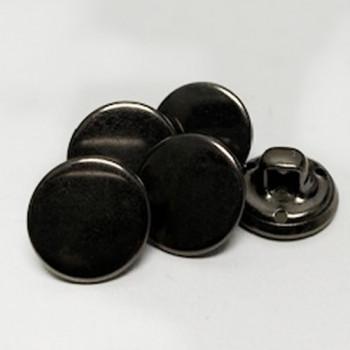 "M-057- 1/2"" Gunmetal Shirt Button, Priced by the Dozen"