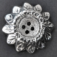 M-1126 Sunflower Metal Button