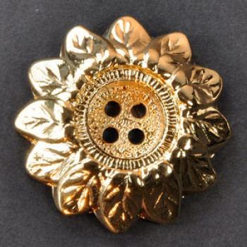 M-1126A Sunflower Metal Button