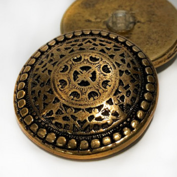 """M-1155  Concho-Look Metal Button, 1-3/4"""" - Set of 6"""