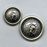 M-1420 Horseshoe Metal Button, 2 Sizes