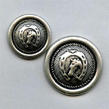 M-1420 Horseshoe Metal Button, 2 Sizes