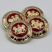M-1425  Jt  John Button  Metal Button Set of 4  7/8 inch