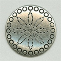 M-192-Concho Look Metal Button, 2 Sizes
