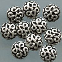 M-2035-Celtic Knot Metal Shirt Button