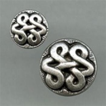 M-2040-Celtic Knot Metal Button, 2 Sizes
