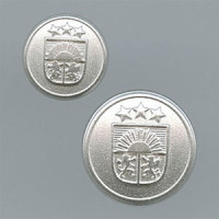 M-2320 Matte Silver Blazer Button, 2 Sizes