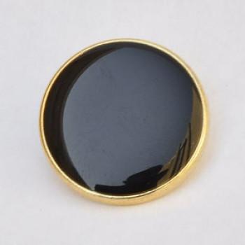 M-290-Gold with Black Epoxy Blazer Button - in 3 Sizes