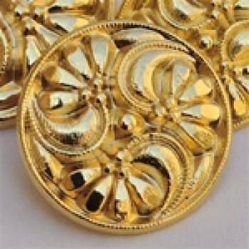 """M-4409 Matte Gold Metal Fashion Button, 11/16"""""""