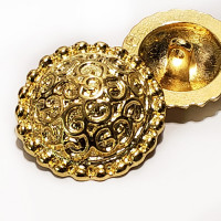 M-5092 Metal Fashion Button, 2 Sizes