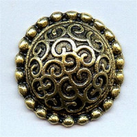 M-5095 Metal Fashion Button, 4 Sizes