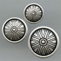 M-5145-Metal Fashion Button, 2 Sizes