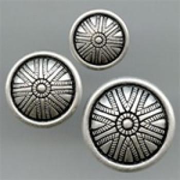 M-5145-Metal Fashion Button, 2 Sizes