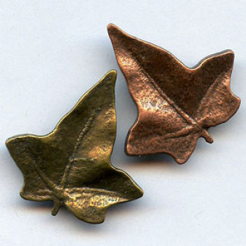 M-677-Metal Leaf Button