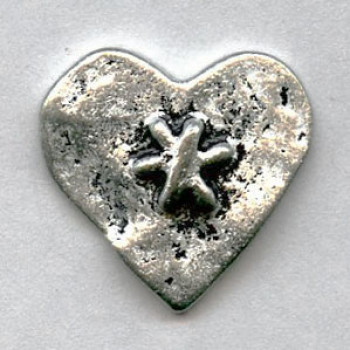 M-7828A-Metal Heart Button