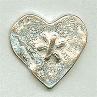 M-7828-Metal Heart Button
