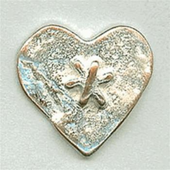 M-7828-Metal Heart Button