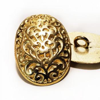M-7839 - Oval Metal Fashion Button, 3 Sizes