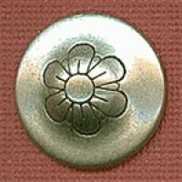 M-7850-Metal Fashion Button, 2 Sizes