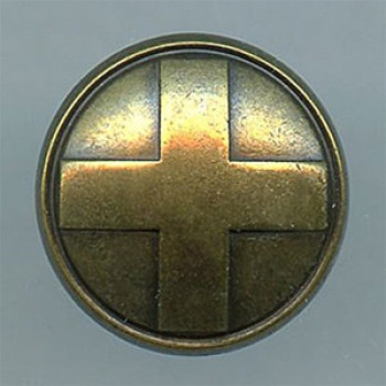 M-7865-Heraldic Cross Metal Button