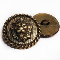M-7911 Lion's Head Metal Button, 3 Sizes